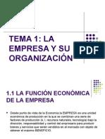 TEMA 1 La empresa y su organización