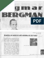 Folheto Filmoteca Bergman