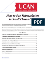 How to Sue Telemarketers in Small Claims Court