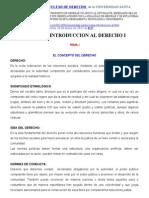 Temas de Introducción Al Derecho