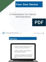BYOD Presentation for District Administrators