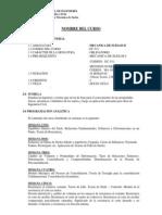 Syllabus Mecanica de Suelos II