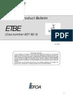 ETBE Technical Sheet