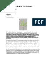 El Efecto Terapéutico Del Cannabis