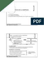 Tema 7 Los Objetivos de La Empresa