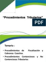 2Procedimientos Tributarios Fiscalizaci+¦n, Cobza Coactiva, Contensiosos