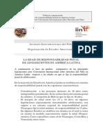Edad de Responsabilidad Penal en America Latina