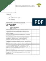 Evaluación Diagnostica Nivel Medio Mayor