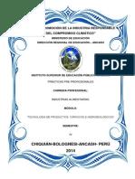 INFORME DE PRACTICAS PRE-PROFESIONALES 2014