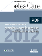 Estandares Para La Atencion Medica de La Diabetes 2012