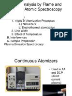 Metal Analysis by Flame and Plasma Atomic Spectroscopy