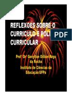 Reflexoess Sobre o Curriculo