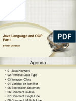 01 Java Language and OOP Part I