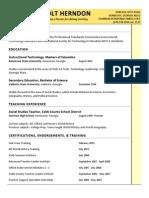 resume shannon holt herndon updated 2014