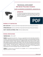 TDS010 - 400 Series Pneumatic Actuators Technical Data