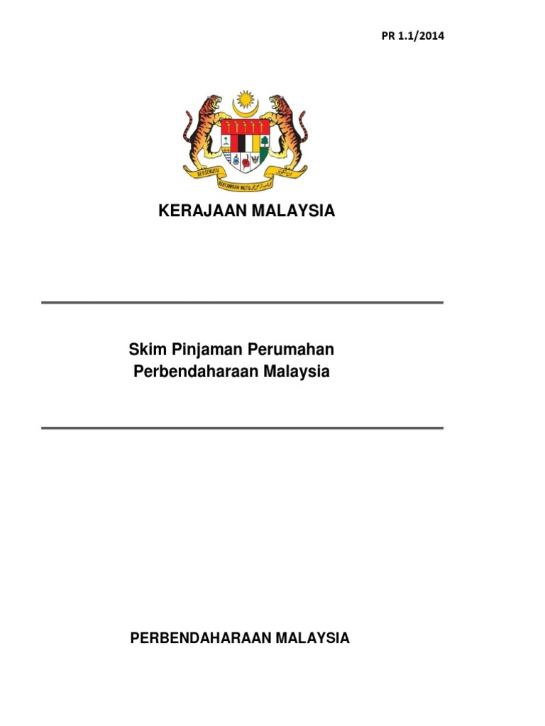 Kerajaan Malaysia Skim Pinjaman Perumahan Perbendaharaan Malaysia Pr1 1 2014