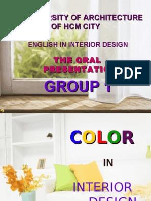 Color In Interior Design Appetite Color