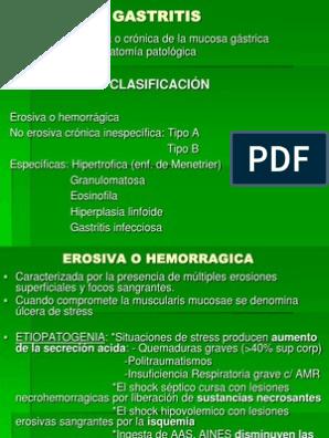 Gastritis hemorragica erosiva