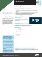 CPM Essentials 7.1 Data Sheet 2014