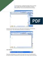 This tutorial teaches Microsoft Word basics