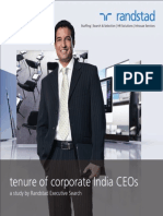 Tenure of Corporate India CEOs