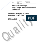 Guidance on Choosing a Sampling Design for Environmental Data Collection for Use in Developing a Quality Assurance Project Plan