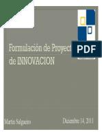 Formulacion de Proyectos de Innovacion
