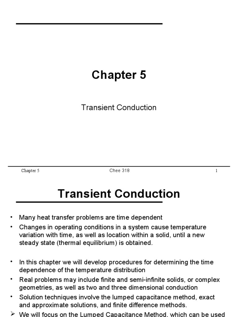 Chapter 5 Web | Thermal Conduction | Heat Transfer