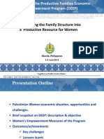 Session 6. Transforming the Family Structure into a  Productive Resource for Women