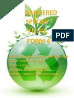 Endangered species foilo form 4 2013
