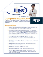 Complete Mouth Care System Cliff Notes Version