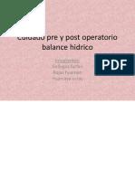 Cuidado Pre y Post Operatorio Balance Hidrico