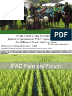 Session 9. Giving women voice in producer and farmer organizations