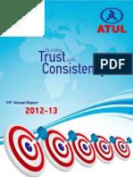 Annual statement of Atul Auto year 2012-13