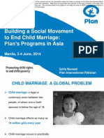 Session 10. Building a Social Movement to end Child Marriage