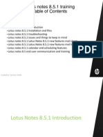Lotus notes 8.5 Training