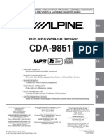 Alpine 9851r