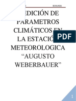 Medición de Parametros Climáticos en La Estación Meteorologica Ecologia Orioginal