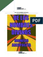 Dionisio Aeropagita - De los nombres divinos