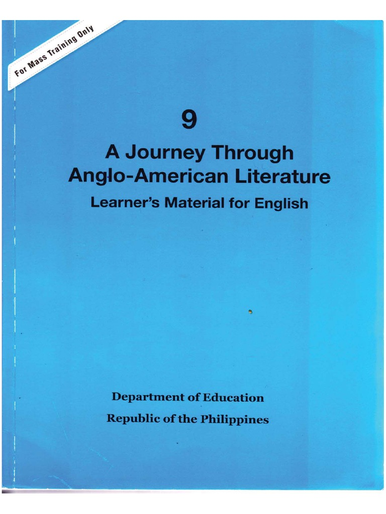 9: A Journey Through Anglo-American Literature Module 1 ...