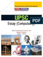 Download UPSC IAS Mains LAST 10 Year Papers Essay Compulsory