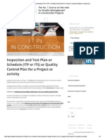 Inspection and Test Plan..Construction Projects