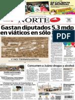 Periódico Norte edición impresa del día 11 de junio del 2014