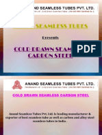 Cold Drawn Seamless Tubes - Anand Seamless Tube