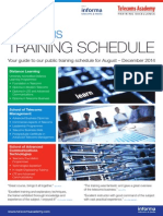 Training Schedule Aug Dec 2014