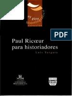 Paul Ricoeur Para Historiadores - Vergara, Luis