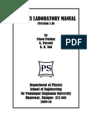 Physics Laboratory Manual pdf | Magnetic Field | Electric