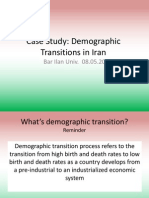 Demographic Transition in Iran