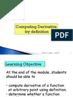 Derivatives Module 1 September 2011