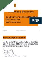 Derivative Module 2 September 2011